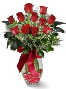 9 adet gül  Bursadaki çiçekçiler  kirmizi gül