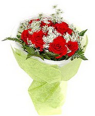 Bursa çiçek gönderimi  7 adet kirmizi gül buketi tanzimi