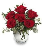 Vazo içerisinde 5 adet kırmızı gül  Bursaya çiçek siparişi