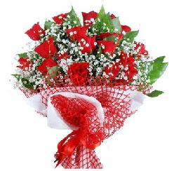 11 kırmızı gülden buket  Bursa çiçek gönder