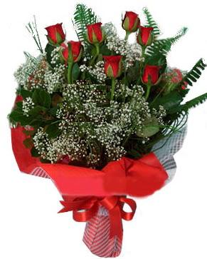 7 kırmızı gül buketi  Bursa online çiçek siparişi