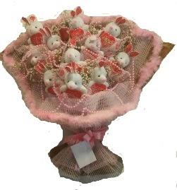 12 adet tavşan buketi  çiçek siparişi bursa