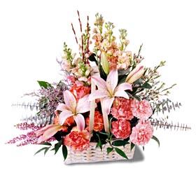 Bursa çiçekçisi hediye çiçek yolla  mevsim çiçekleri sepeti özel tanzim