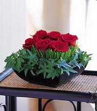 Bursa çiçekçisi hediye çiçek yolla  10 adet kare mika yada cam vazoda gül tanzim