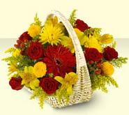 Bursa çiçek gönder  sepette mevsim çiçekleri