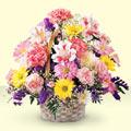 Bursa çiçek yollama çiçek satışı  sepet içerisinde gül ve mevsim