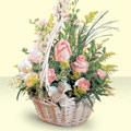 Bursa çiçek gönder  sepette pembe güller