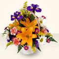 Bursa çiçek gönder  sepet içinde karisik çiçekler