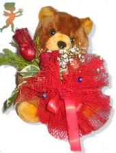 oyuncak ayi ve gül tanzim  Bursa çiçek yolla çiçek , çiçekçi , çiçekçilik
