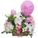 balon ve çiçeklerle tanzim  Bursadaki çiçekçiler