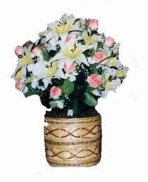 yapay karisik çiçek sepeti   Bursa online çiçek siparişi