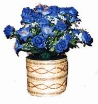 yapay mavi çiçek sepeti  Bursa çiçek gönder