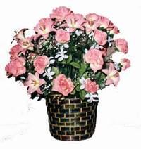 yapay karisik çiçek sepeti  Bursa çiçekçi telefonları cicek , cicekci