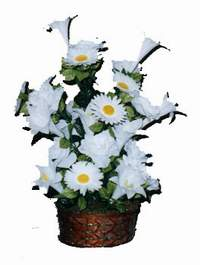 yapay karisik çiçek sepeti  Bursa çiçek siparişi