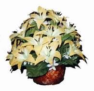 yapay karisik çiçek sepeti   Bursa çiçekçisi hediye çiçek yolla