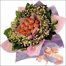 11  adet  gül ve   elyaflar   Bursaya çiçek siparişi