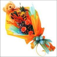 ayicik gül ve kir çiçekleri   Bursaya çiçek siparişi