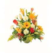 karisik renkli çiçekler tanzim   Bursa cicekci bursaya çiçek yolla