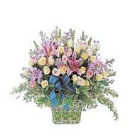 sepette kazablanka ve güller   online bursa çiçek siparişi