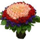 71 adet renkli gül buketi   Bursadaki çiçekçi firmaları