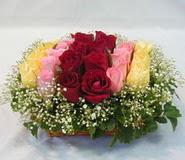 15 adet reprenkli gül sepeti   çiçek yolla bursa