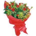 10 adet kirmizi gül buketi  çiçek yolla bursa