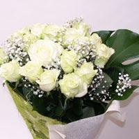 Çiçekçi Bursa  11 adet sade beyaz gül buketi
