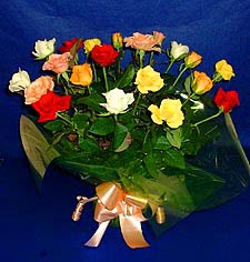 Çiçekçi Bursa  13 adet karisik renkli güller