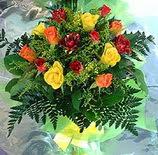 13 adet karisik gül buketi demeti   Bursa çiçek yollama çiçek satışı