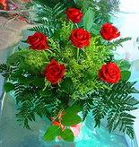 6 adet kirmizi gül buketi   Bursa çiçek yolla