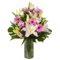 vazo içerisinde karisik mevsim çiçekleri  Bursa çiçek çiçekçi