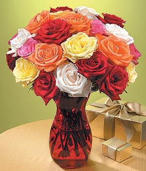 Bursa çiçek ucuz çiçek gönder  13 adet renkli gül