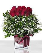 Bursa çiçek gönderimi  11 adet gül mika yada cam - anneler günü seçimi -