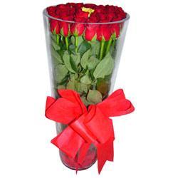 Bursa çiçekçi telefonları cicek , cicekci  12 adet kirmizi gül cam yada mika vazo tanzim