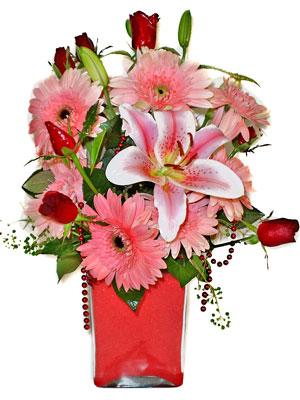 Bursa online çiçekçi  karisik cam yada mika vazoda mevsim çiçekleri mevsim demeti