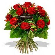 9 adet kirmizi gül ve kir çiçekleri  Bursadaki çiçekçiler