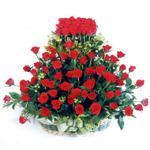 Bursa çiçek gönderme merkezi  41 adet kirmizi gülden sepet tanzimi