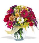 Bursa çiçek gönderimi  cam yada mika vazo içerisinde karisik kir çiçekleri