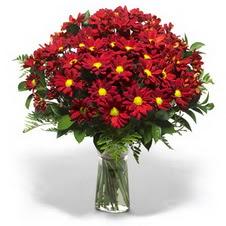 çiçek yolla bursa  Kir çiçekleri cam yada mika vazo içinde