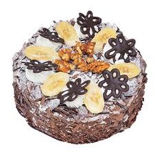 Muzlu çikolatali yas pasta 4 ile 6 kisilik   Bursa çiçek yollama çiçek satışı