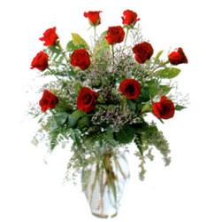 Vazo içerisinde 11 kirmizi gül  Bursa çiçek siparişi