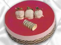 pasta siparisi 4 ile 6 kisilik yas pasta çilekli yaspasta  Bursa online çiçek siparişi