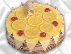 taze pastaci 4 ile 6 kisilik yas pasta limonlu yaspasta  Bursa çiçek yolla