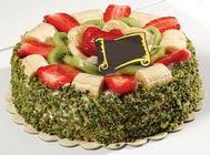 pasta gönder  4 ile 6 kisilik karisik meyvali yas pasta  Bursa çiçek çiçekçi