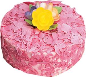 pasta siparisi 4 ile 6 kisilik framboazli yas pasta  çiçek yolla bursa