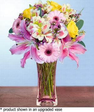 Anneme hediye karisik cam mevsim demeti  Bursa çiçek çiçekçi