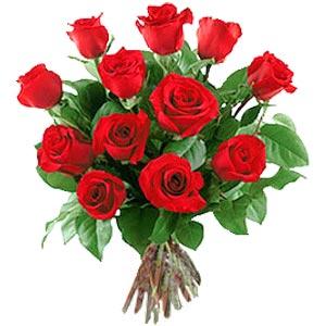 11 adet bakara kirmizi gül buketi  Bursaya çiçek siparişi vermek