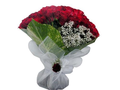 25 adet kirmizi gül görsel çiçek modeli  Bursa online çiçek siparişi
