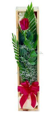 1 adet kutuda kirmizi gül  Bursa cicekci bursaya çiçek yolla