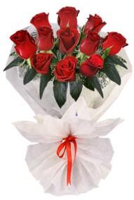 11 adet gül buketi  Bursa çiçek çiçekçi  kirmizi gül